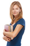 Beautiful young woman with books Stock Image