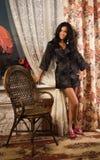 Beautiful young woman  in a boudoir Stock Photos
