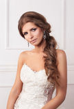 Beautiful young  woman bride Royalty Free Stock Photography