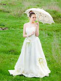 Beautiful young woman Bride to be Stock Photos