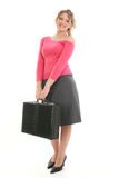 Beautiful Young Woman with Briefcase Stock Photos
