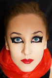 Beautiful young woman with bright makeup Royalty Free Stock Images
