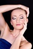 Beautiful young woman with bright stylish make-up Royalty Free Stock Image