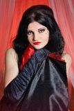 Beautiful young woman cabaret burlesque showgirl portrait Royalty Free Stock Images