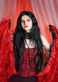Beautiful young woman cabaret burlesque showgirl portrait Stock Photos