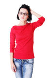 Beautiful young woman in casual clothes Stock Images