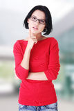 Beautiful young woman in casual clothes Royalty Free Stock Photos