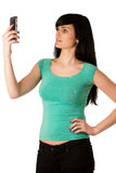 Beautiful young woman with cell phone Royalty Free Stock Photography