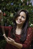 Beautiful young woman at christmas Royalty Free Stock Photography