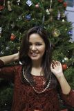 Beautiful young woman at christmas Stock Photo