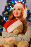 Beautiful young woman during christmas holidays Royalty Free Stock Photos
