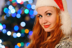 Beautiful young woman during christmas holidays Stock Photography