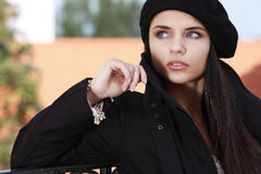 Beautiful young woman in a city Royalty Free Stock Images