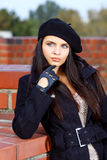 Beautiful young woman in a city Royalty Free Stock Photography