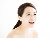 Beautiful young woman with clean face Royalty Free Stock Photos