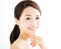 beautiful young woman with clean face Royalty Free Stock Images