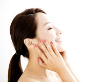 Beautiful young woman with clean face Stock Photography