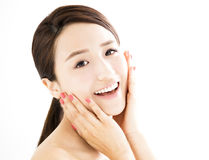 Beautiful young woman with clean face Royalty Free Stock Photography