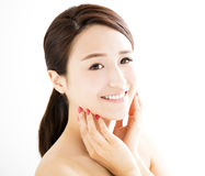 Beautiful young woman with clean face Royalty Free Stock Photo