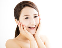 Beautiful young woman with clean face Royalty Free Stock Image