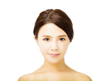 Beautiful young  woman with clean face Stock Images
