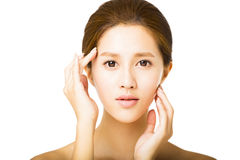 Beautiful young   woman with clean face Stock Image