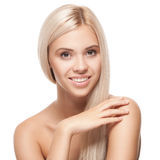 Beautiful young woman with clean fresh skin Royalty Free Stock Photos