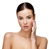 Beautiful Young Woman with Clean Fresh Skin Stock Image
