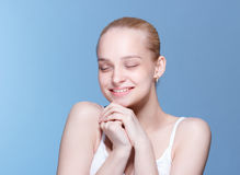 Beautiful Young Woman with Clean Fresh Skin Royalty Free Stock Images