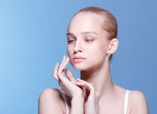 Beautiful Young Woman with Clean Fresh Skin Royalty Free Stock Photo