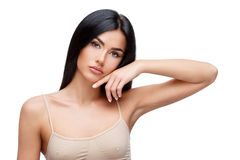 Beautiful Young Woman with Clean healthy hair Stock Photo