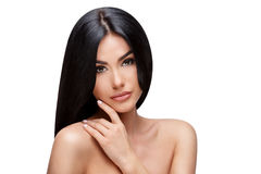 Beautiful Young Woman with Clean healthy hair Royalty Free Stock Photography