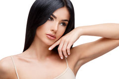 Beautiful Young Woman with Clean healthy hair Royalty Free Stock Image