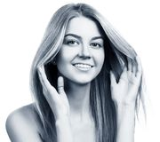 Beautiful smiling young woman with clean skin. Royalty Free Stock Photography
