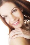 Beautiful young woman with clean skin Stock Images