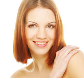 Beautiful young woman with clean skin Stock Photo