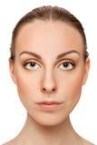 Beautiful young woman close up Stock Image