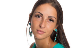 Beautiful young woman close up Royalty Free Stock Images