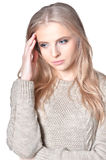 Beautiful young woman close-up Royalty Free Stock Images