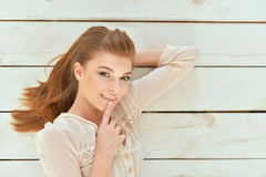Beautiful young woman close-up Royalty Free Stock Photos