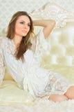 Beautiful young woman close-up Stock Photography