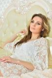 Beautiful young woman close-up Stock Photo