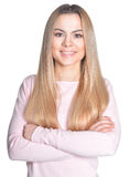 Beautiful young woman close-up Stock Image