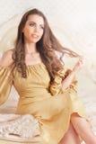 Beautiful young woman close-up Royalty Free Stock Image