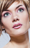 Beautiful young woman close-up portrait face Royalty Free Stock Photo