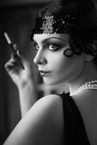 Retro flapper style Royalty Free Stock Photography