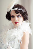 Retro flapper style Royalty Free Stock Photo