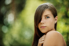 Beautiful young woman close up Royalty Free Stock Photo