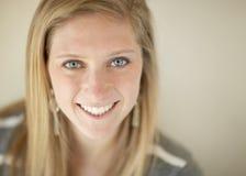 Beautiful young woman closeup royalty free stock photos