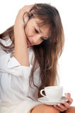Beautiful young woman with coffee cup Royalty Free Stock Image